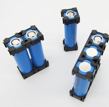 Plastikowa obudowa 1x1 do pakietowania akumulatorów Li-Ion 18650 - Uchwyt