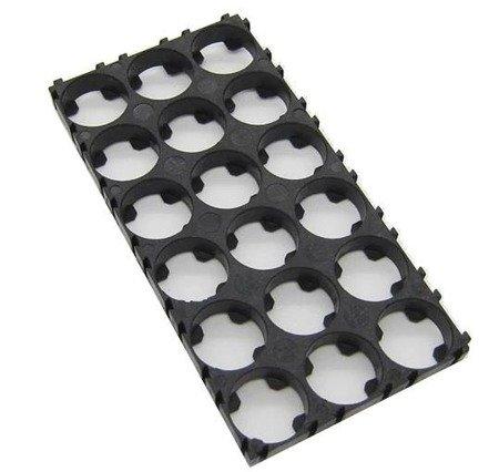 Plastikowa obudowa 6x3 do pakietowania akumulatorów Li-Ion 18650 - na 18 szt.