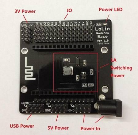Płyta Testowa dla NodeMCU V3 ESP8266 - budowa prototypów