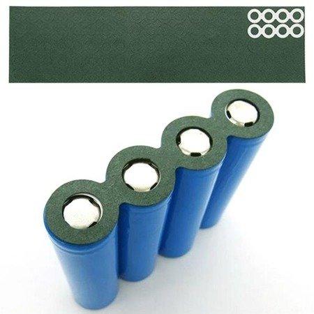 Podkładka izolująca z otworem - na 8 akumulatorów 18650