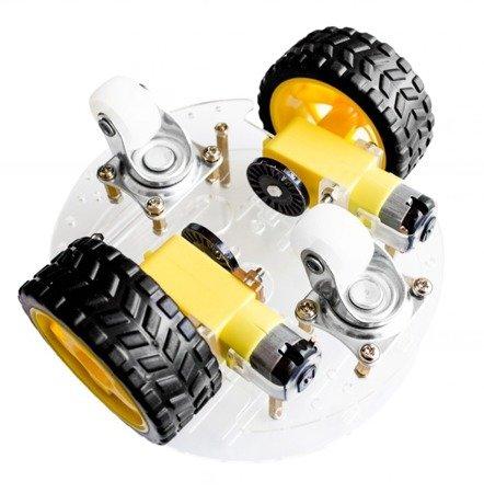 Podwozie robota 2WD RT-4 - 140mm - 2 silniki z enkoderami  - platforma mobilna