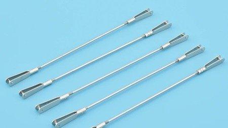 Popychacz prosty gwintowany 12cm - 2x Snap Metalowy M2 /26mm