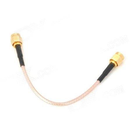 Przejście - SMA plug na SMA plug - adapter prosty z przewodem 100mm