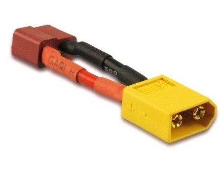 Przejście - wtyki XT60 (męskie)- DEAN T (żeńskie) - długie - do akumulatorów