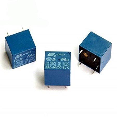 Przekaźnik SONGLE SRD-24VDC-SL-C - 24V - styki 250VAC 10A