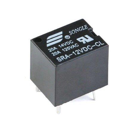 Przekaźnik mocy SONGLE SRA-12VDC-CL 20A - 12V - 5PIN T74 - styki 14VDC 125VAC