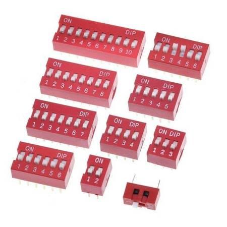 Przełącznik DIP switch 1P - przełącznik suwakowy 1-kanałowy