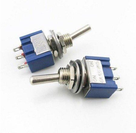 Przełącznik dźwigniowy - 6A - 125V - 2-pozycyjny - MTS-102 - 3PIN