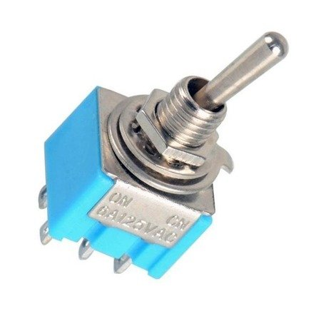 Przełącznik dźwigniowy - 6A - 125V - 2-pozycyjny - MTS-202 - 6PIN