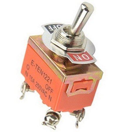 Przełącznik dźwigniowy - E-TEN1221 - 15A - 250V - 2-pozycyjny - 4 piny