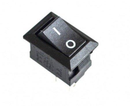 Przełącznik klawiszowy XL601 - 15x10mm - pojedynczy - ON/OFF - czarny - 10szt.