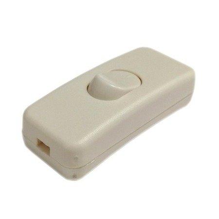 Przełącznik na kabel - czarny - przelotowy - ON/OFF - wyłącznik lampowy