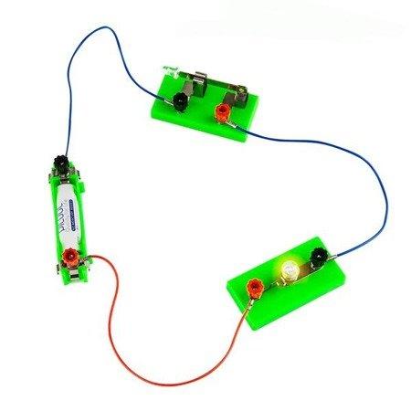 Przewód połączeniowy 20cm - 2x konektor widełkowy - do budowy prostych obwodów elektrycznych