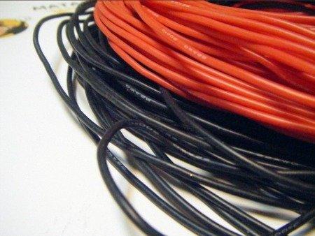 Przewód silikonowy miedziany ocynowany 22AWG - 66 żył - 0,33 mm2 - czerwony - elastyczny