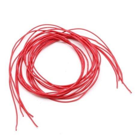 Przewód silikonowy miedziany ocynowany 26AWG - 28 żył - 0,14 mm2 - czerwony - elastyczny