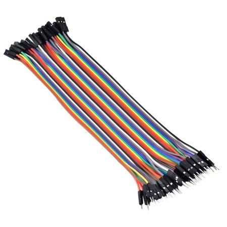 Przewody kable zworki 40 szt 20cm - męsko-żeńskie