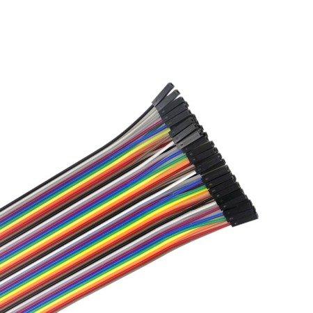 Przewody kable zworki DuPont F-F 40 szt 20cm - żeńsko-żeńskie