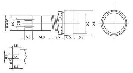 Przycisk PBS-11A - 250V 3A - monostabilny - okrągły - czarny