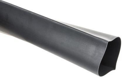 Rurka koszulka termokurczliwa Ø40/Ø20 mm - silikonowa - czarna - 1mb - elastyczna