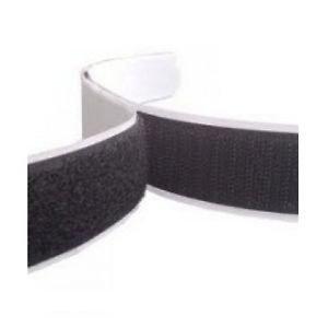 Rzep z klejem  50mm x 200mm - kolor czarny