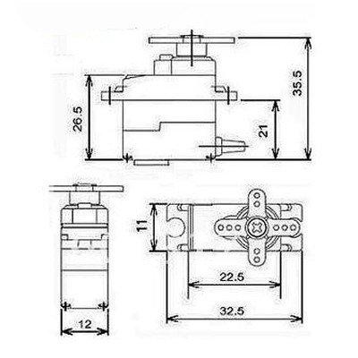 Serwo TowerPro MG-90S - 13g - 1,8kg/cm - metalowe zębatki - micro