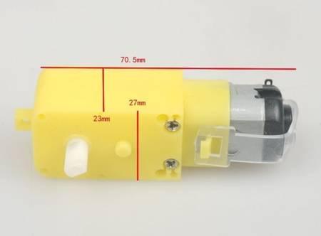 Silnik TT do robota z przekładnią 1:48 - typ prosty  - DC 3-6V