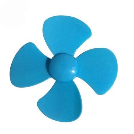 Śmigło 4-łopatowe 40x2mm - niebieskie - do mini turbiny wiatrowej - Do projektów DIY