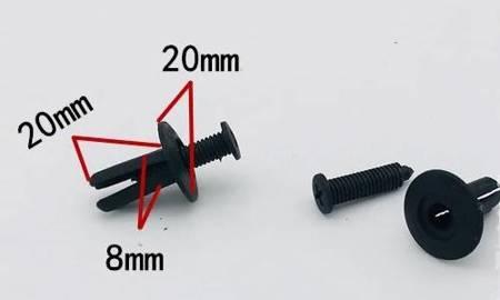 Spinki samochodowe uniwersalne Typ 488 - 8mm - Kołek tapicerski - nit - 10szt