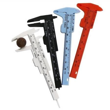 Suwmiarka plastikowa Mini 0-80 mm - czerwona - narzędzie do pomiaru