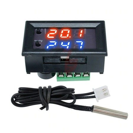 Termostat 12V W2 -50°C do 110°C - z regulatorem temperatury