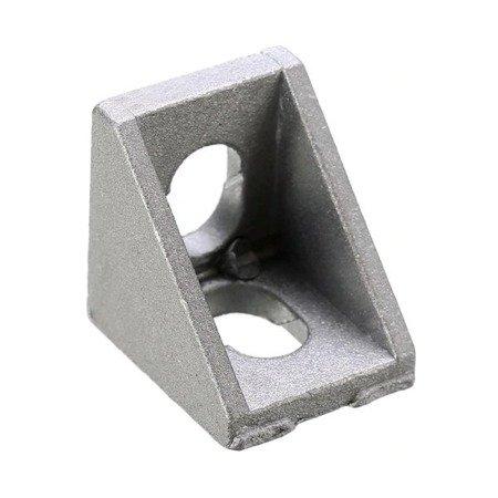 Uchwyt narożny 20x20mm do profili aluminiowych 2020 - TSLOT, T-NUT, TNUT - 2x śrubka i narkętka