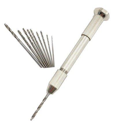 Uchwyt wiertła Hand Drill - ręczna oprawka zaciskowa z 10 wiertłami