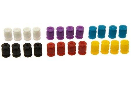 Wibroizolator 13mm/9mm - silikonowy - czarny - tłumik drgań, damper, amortyzator - 1 szt