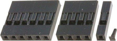 Wtyk kołkowy 2,54mm - 1 pin - 10 szt - osłonka - do układów elektronicznych