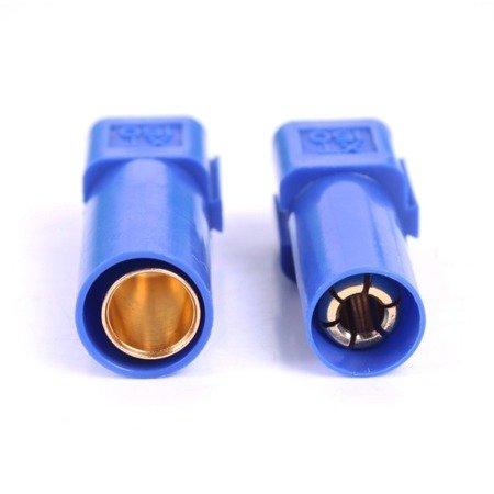 Wtyki XT150 - blue - komplet wtyk i gniazdo wysoko-prądowe w osłonie - AMASS