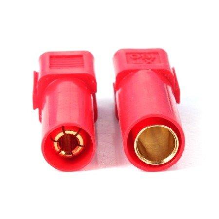 Wtyki XT150 - red - komplet wtyk i gniazdo wysoko-prądowe w osłonie - AMASS