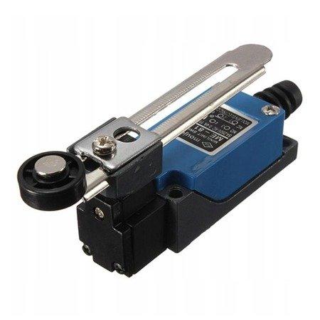 Wyłącznik krańcowy ME-8108 - 230V AC - 5A - regulowana dźwignia z rolką