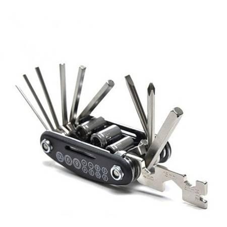 Zestaw kluczy rowerowych - 16w1 - MULTITOOL - imbusy do roweru