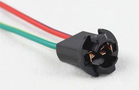 Złącze żarówki T10 - kostka - plastik